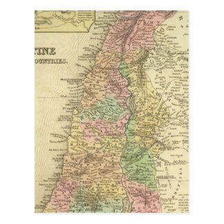 Palestina y países adyacentes postal