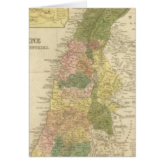 Palestina y países adyacentes tarjeta de felicitación