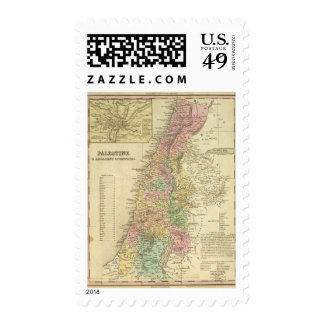 Palestina y países adyacentes timbre postal