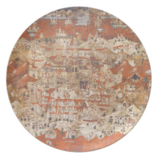 Palestine 15th Century Topography of the Holy Land Dinner Plate