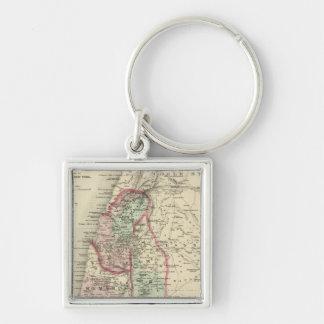 Palestine 4 Silver-Colored square keychain