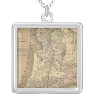 Palestine 6 silver plated necklace