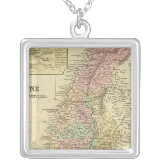 Palestine & Adjacent Countries Silver Plated Necklace