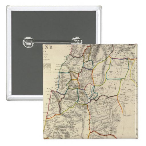 Palestine, adjacent districts 2 inch square button
