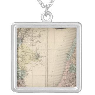 Palestine ancient square pendant necklace
