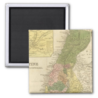 Palestine and Adjacent Countries 2 Inch Square Magnet