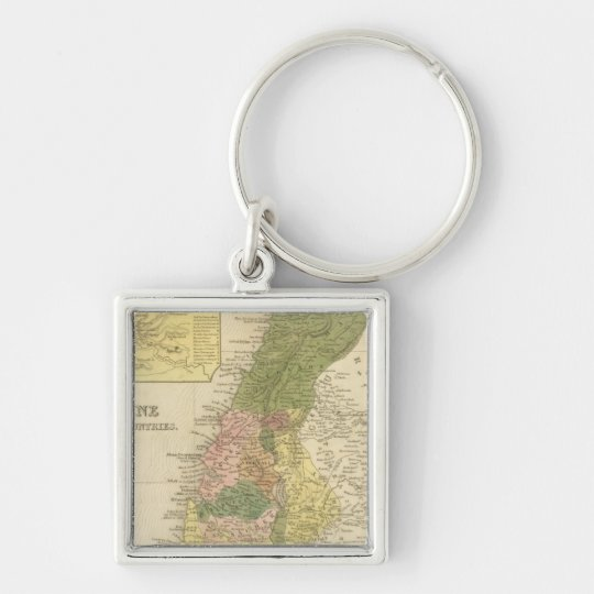 Palestine and Adjacent Countries Keychain