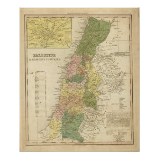 Palestine and Adjacent Countries Poster