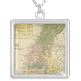 Palestine and Adjacent Countries Silver Plated Necklace