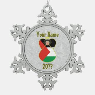 Palestine Angel Flag Ornaments