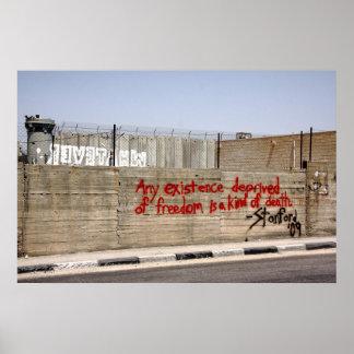 Palestine Apartheid Wall Graffiti Poster