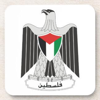 palestine coat of arms beverage coaster