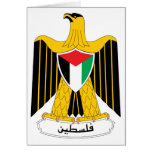 Palestine Coat of Arms Card
