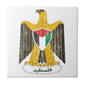 Palestine Coat Of Arms Ceramic Tile