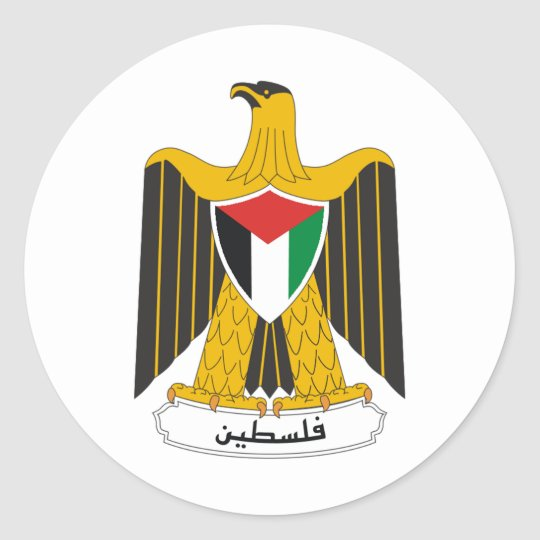Palestine Coat of Arms Classic Round Sticker
