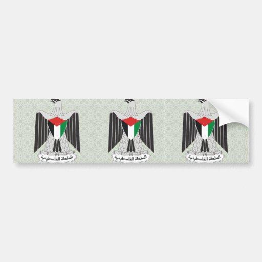 Palestine Coat of Arms detail Car Bumper Sticker