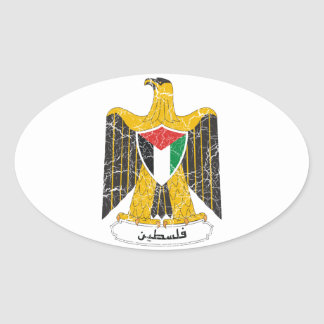 Palestine Coat Of Arms Oval Sticker