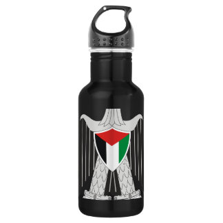 palestine coat of arms 18oz water bottle