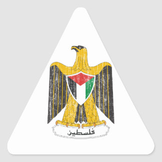 Palestine Coat Of Arms Triangle Sticker