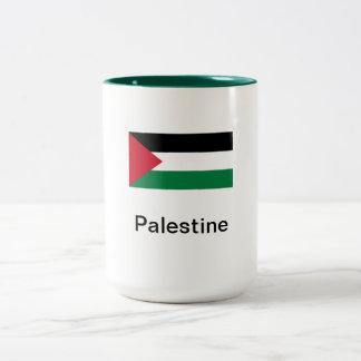Palestine - Coffee Mug: (Two Tone) Green & White Two-Tone Coffee Mug