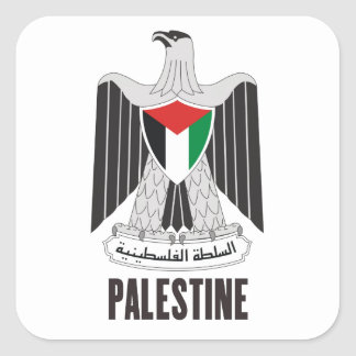 PALESTINE - emblem/flag/coat of arms/symbol Square Sticker