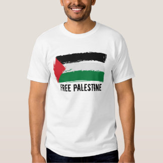 Palestine Flag Brush Art - Free Palestine Tshirt