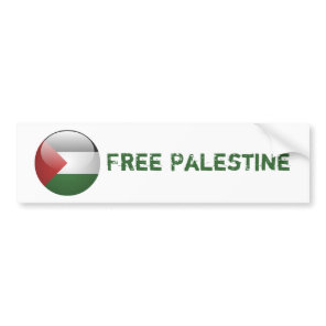 Palestine Flag Bumper Sticker