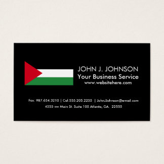 Palestine Flag Business Card