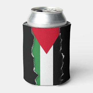 Palestine Flag Can Cooler