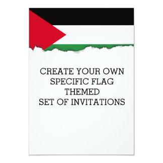 Palestine Flag Card