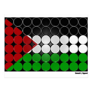 Palestine Flag Circle 2 Postcard