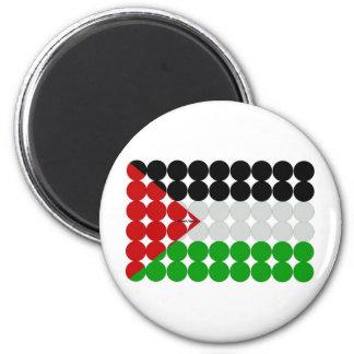 Palestine Flag Circles Magnet