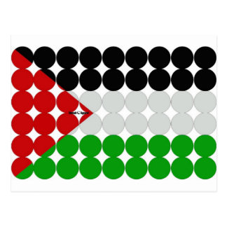 Palestine Flag Circles Postcard