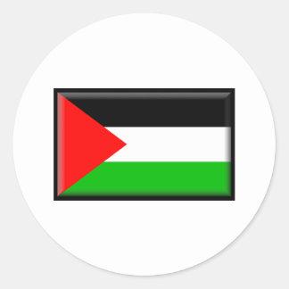 Palestine Flag Classic Round Sticker