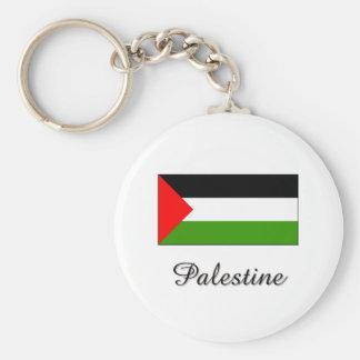 Palestine Flag Design Basic Round Button Keychain