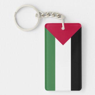 Palestine Flag Double-Sided Rectangular Acrylic Keychain