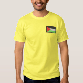 Palestine Flag Embroidered T-Shirt