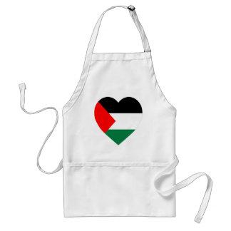 Palestine Flag Heart Aprons