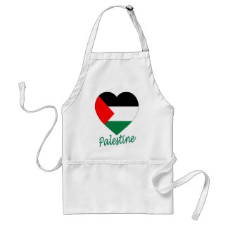 Palestine Flag Heart Apron