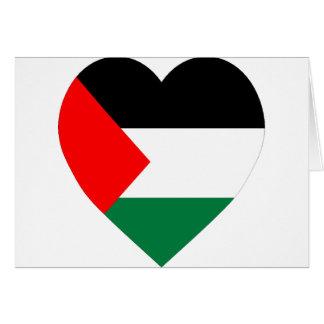 Palestine Flag Heart Card
