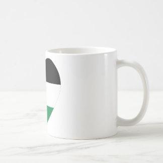 Palestine Flag Heart Coffee Mugs