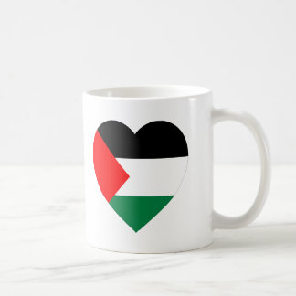 Palestine Flag Heart Mug