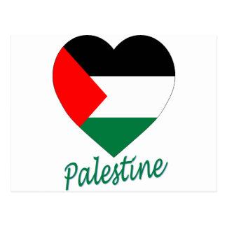 Palestine Flag Heart Postcard
