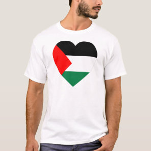Palestine Flag Heart T-Shirt