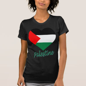 Palestine Flag Heart T-Shirt