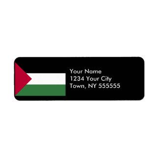 Palestine Flag Label