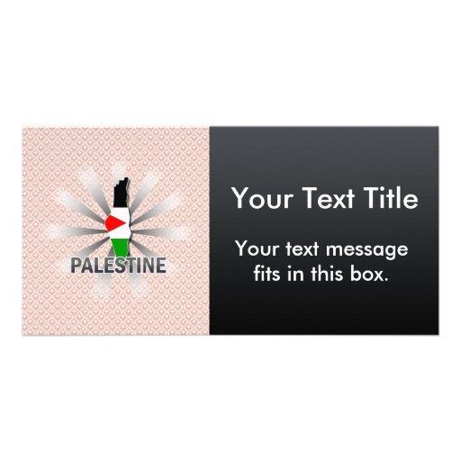 Palestine Flag Map 2.0 Photo Card