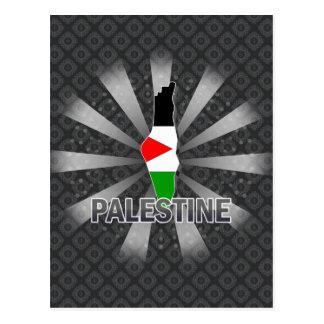 Palestine Flag Map 2 0 Post Card