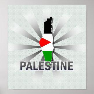 Palestine Flag Map 2.0 Poster