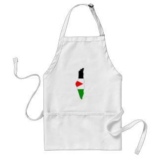 Palestine flag map apron